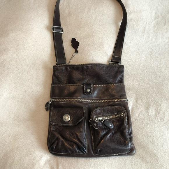 Roots leather vintage Venetian village bag